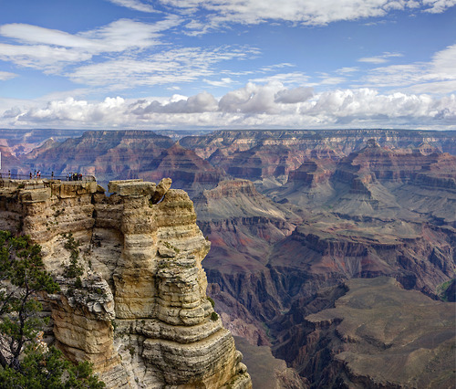 Grand Canyon National Park: Mather Point Pano 03