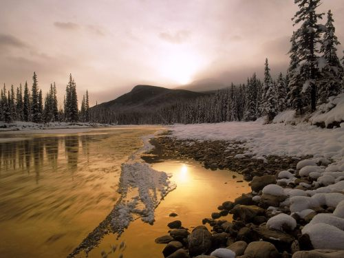 Bow River, Rocky Mountains, Canada