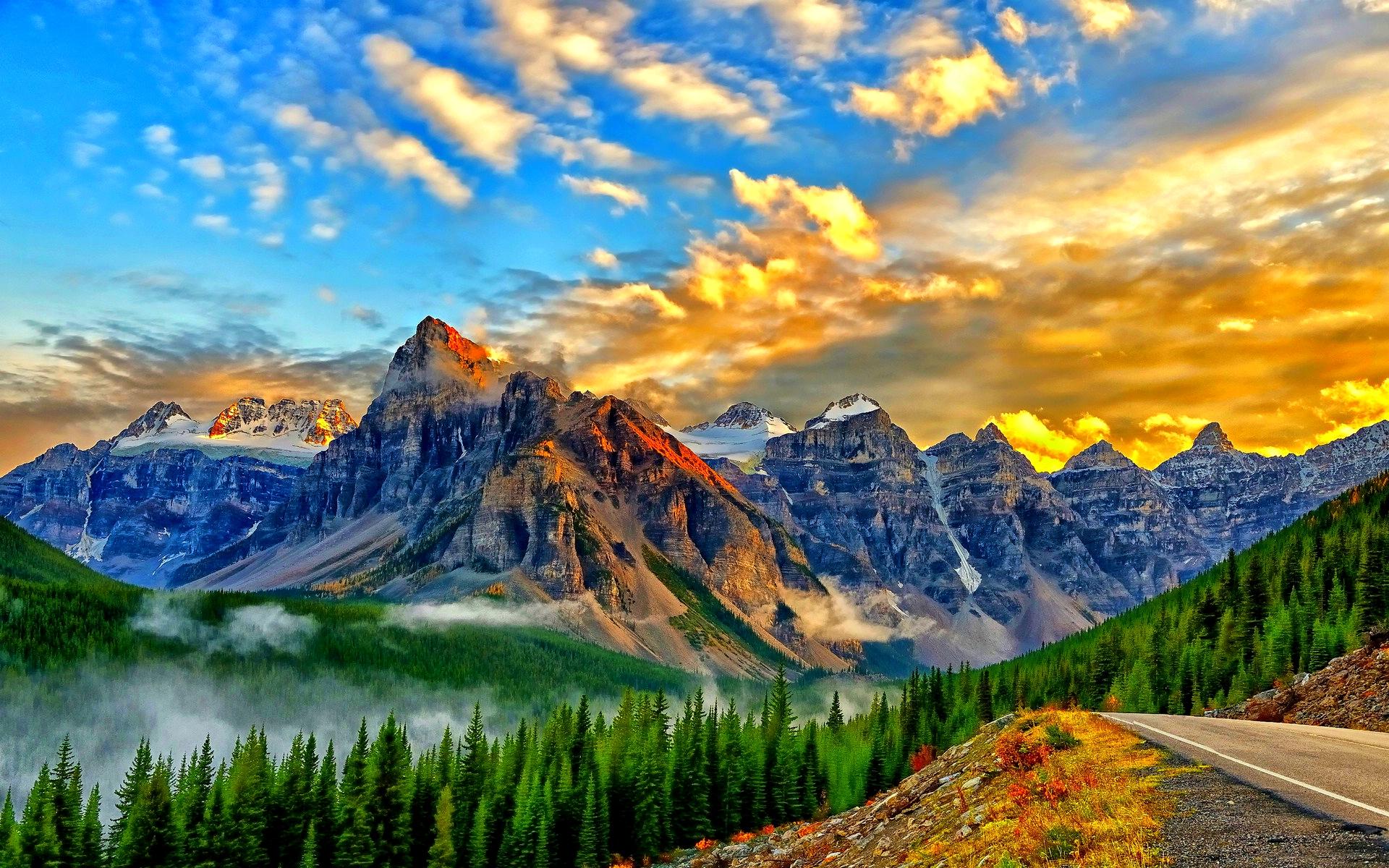 Lake Mountain Background Hd